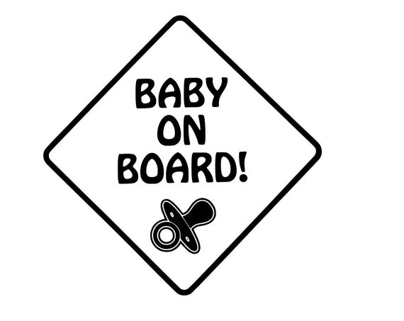 Baby On Board Decal for your car truck suv van window or bumper newborn in car