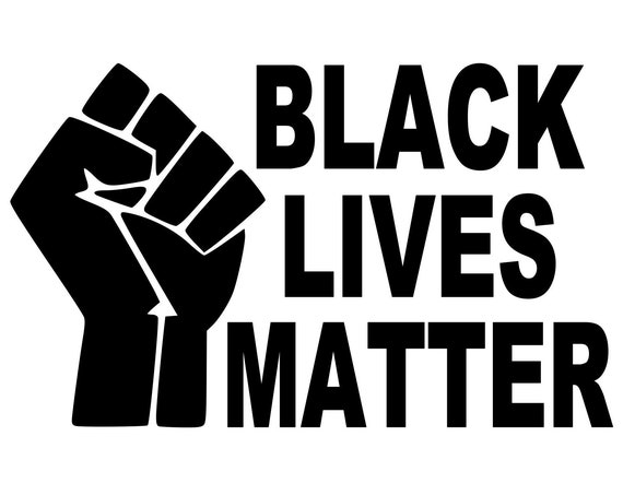 Black Lives Matter Anti Racism Decal BLM - For Your Car Truck Phone