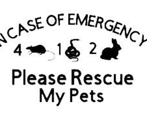 Personalized Dog Emergency Decal | Dog Pet Alert | Pet Rescue Sticker | Pet Safety Vinyl | Dog Rescue Decal | Pet Window Decal | Vinyl Decal