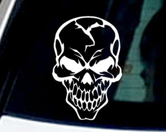 Skull Decal - Sticker For Your car or truck window phone table laptop wall