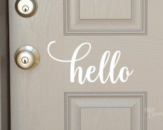 Hello Front Door Decal Sticker for your home