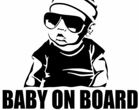 Gangster Baby On Board Decal for your car truck suv van window or bumper newborn in car