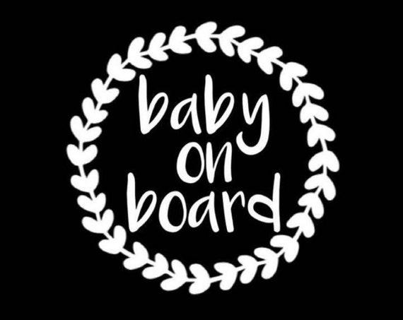 Baby On Board Decal Sticker for your car truck suv minivan van window bumper