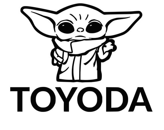 Toyoda Baby Alien Decal - Sticker For Your Car Truck phone or Window Toyota
