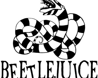 Beetlejuice Decal Etsy