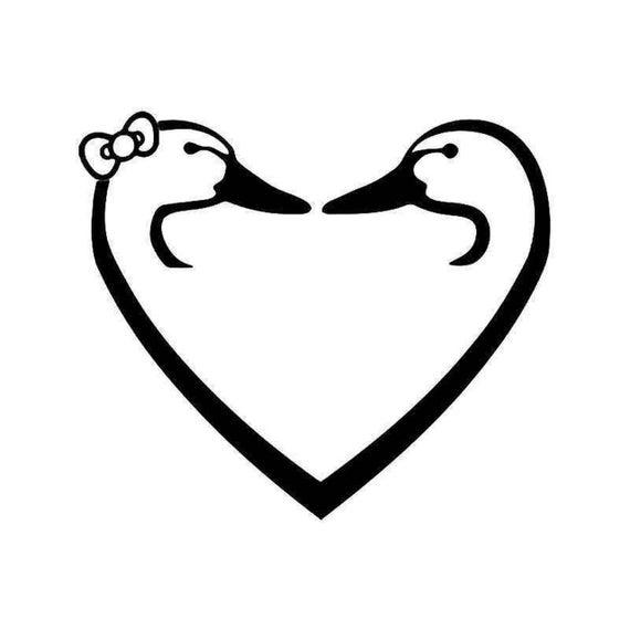 Love Duck Hunting or Ducks in love decal sticker for Car truck suv van phone Window, Bumper, Mirror, Mudlap Laptop yeti hunting hunt hunter