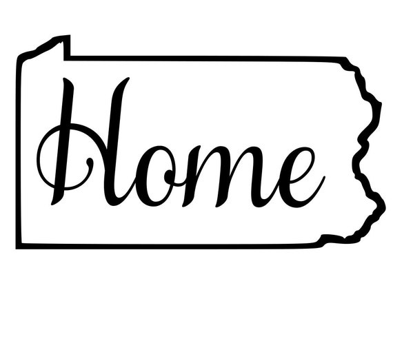 Pennsylvania with or without Home Map Decal Sticker for your car truck suv van wall phone window rv trailer state