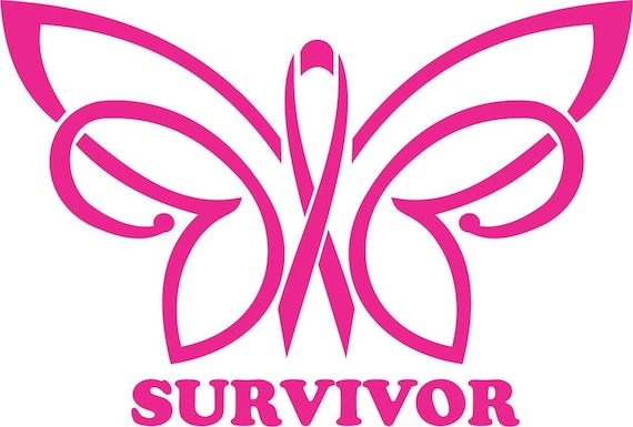 Butterfly Cancer Survivor Sticker Decal  for your car truck suv van wall phone window