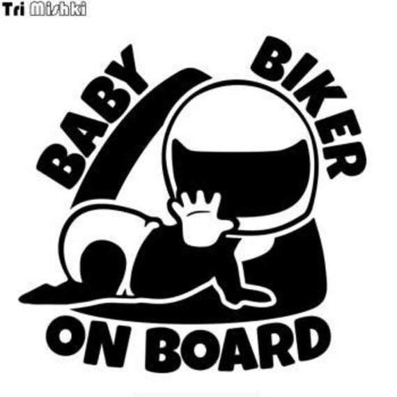 Baby Biker On Board  Decal Sticker for your truck suv minivan van window bumper