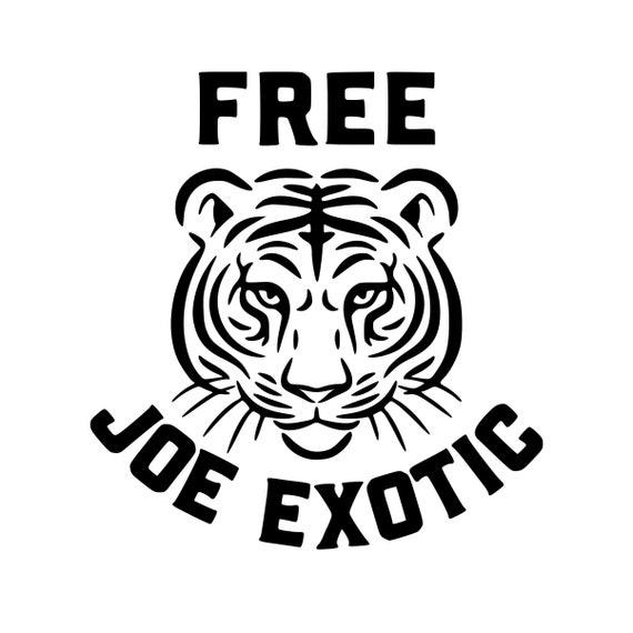 Free Joe Exotic Tiger King Carole Baskin Decal Sticker for your car truck suv van wall phone window