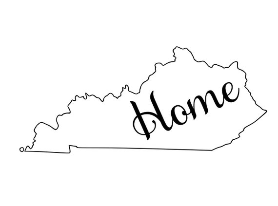 Kentucky with or without Home Map Decal Sticker for your car truck suv van wall phone window rv trailer state