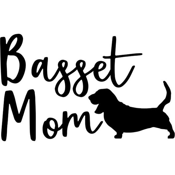 Basset Hound Mom Decal Sticker for your car truck van suv window bumper ideas adopt dog Rescue Mom Dad