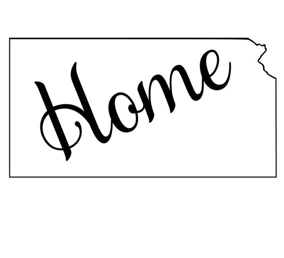 Kansas with or without Home Map Decal Sticker for your car truck suv van wall phone window rv trailer state
