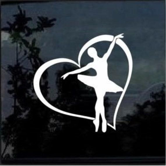 Love Dancing Dancer Decal Sticker for your car truck suv van wall phone window ballet