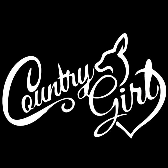 Country Girl Decal for your car truck phone wall