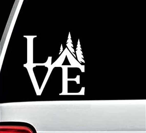 Love To Camp Camping Decal - Sticker For Your Car Truck RV Motorhome Travel Trailer Camper or Window