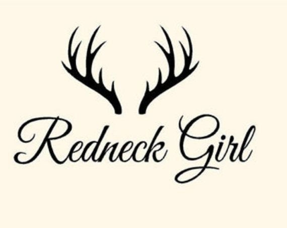 Redneck Girl Decal Sticker for your car truck 4x4 offroad vehicle wall phone window