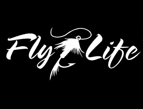 Flylife Fly Fishing Tackle Box Decal - Sticker For Your Car Truck phone or Window