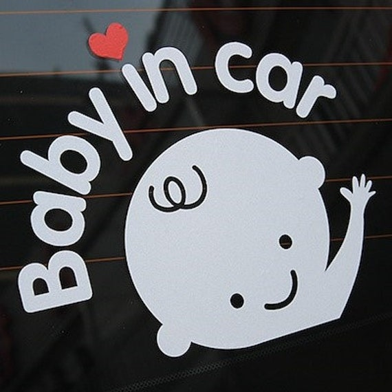 Baby In Car Baby On Board Decal Sticker for your truck suv minivan van window bumper