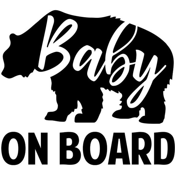 Baby Bear On Board Decal for your car truck suv van window or bumper