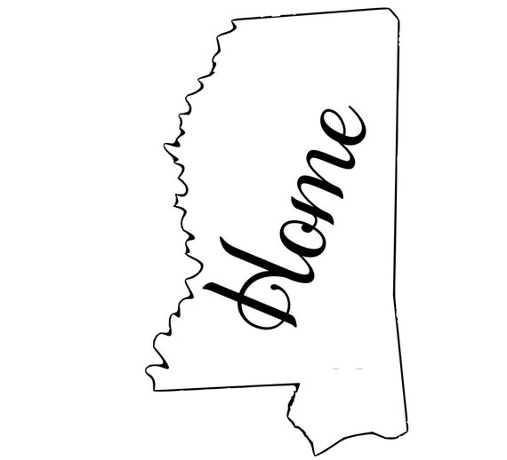 Mississippi with or without Home Map Decal Sticker for your car truck suv van wall phone window rv trailer state
