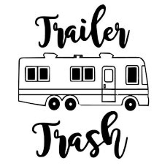 Trailer Trash Can Camping Decal Sticker for your car truck suv van wall phone window rv motorhome trailer camper