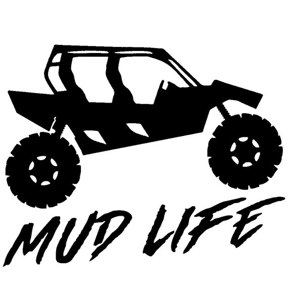 Mud Life Rzr Polaris UTV Decal Sticker for your car truck vehicle window redneck 4x4 offroad mudding outdoor adventure trails