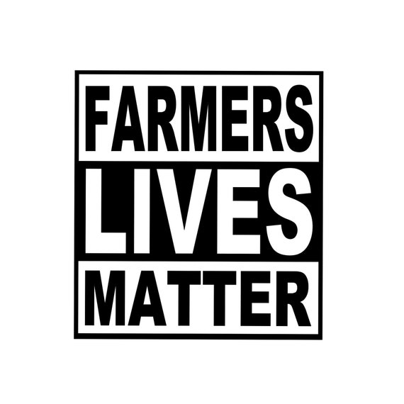 Farmers Lives Matter Decal - Sticker For Your Car Truck phone or Window support farms in India
