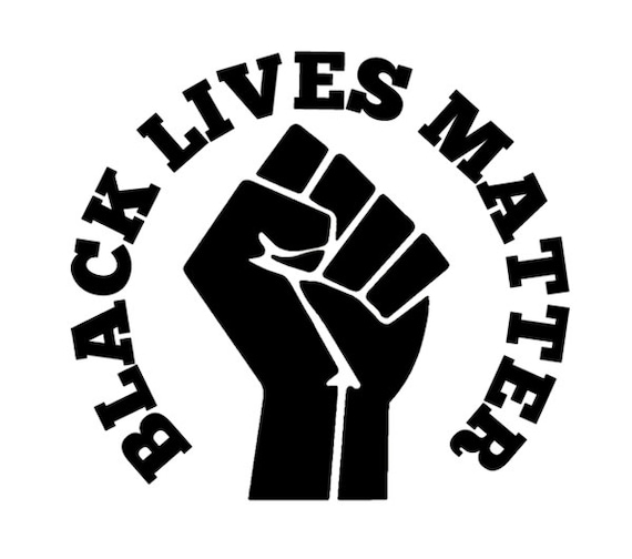Black Lives Matter Anti Racism Decal - Sticker - For Your Car or Truck