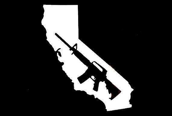 California Map Decal With Gun Sticker for your car truck van suv window bumper new ideas cal cali