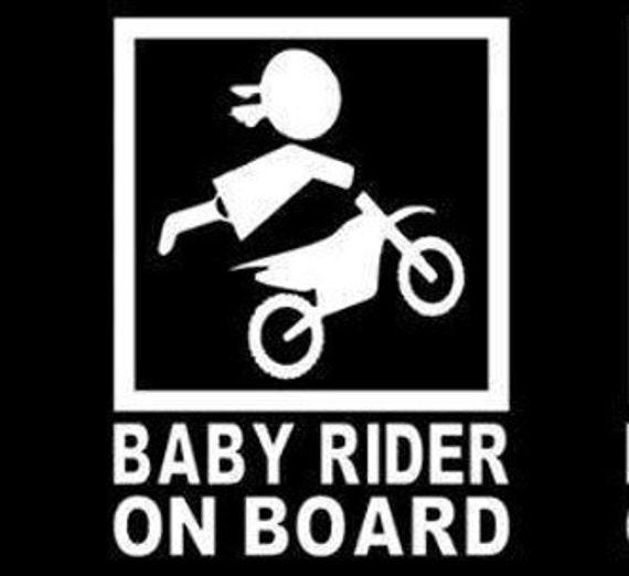 Girl Baby Rider On Board Baby On Board Decal Sticker for your car truck suv minivan van window bumper