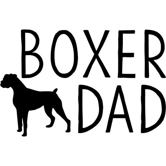 Boxer Dad Decal Sticker for your car truck van suv window bumper ideas adopt dog Rescue Mom Dad