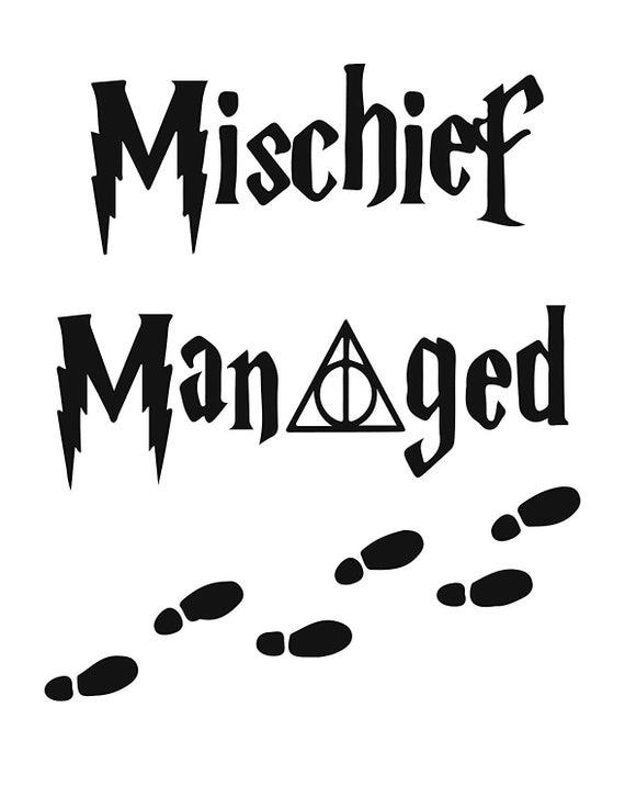 Mischief Managed Decal Sticker for your car truck suv van wall phone window