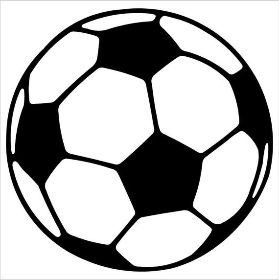 Soccerball Soccer Ball Futbol silhouette Decal Sticker for your car truck suv phone tablet window bumper phone