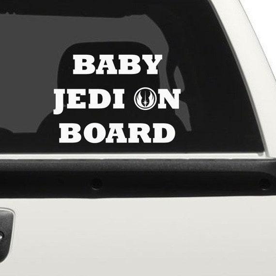 Baby Jedi On Board  Decal Sticker for your truck suv minivan van window bumper