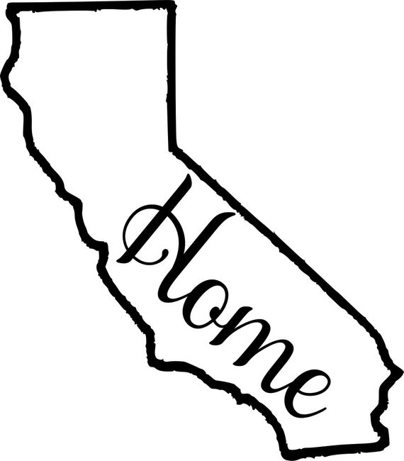 Cali California with or without Home Map Decal Sticker for your car truck suv van wall phone window rv trailer state