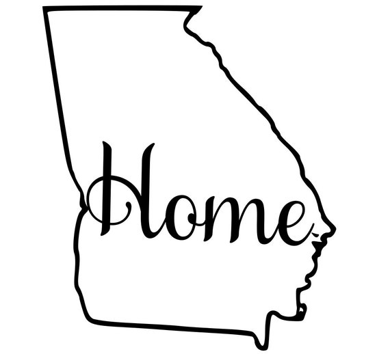 Georgia with or without Home Map Decal Sticker for your car truck suv van wall phone window rv trailer state