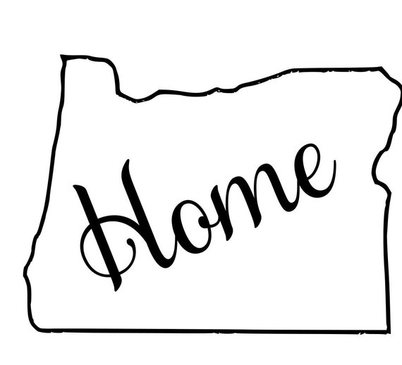 Oregon with or without Home Map Decal Sticker for your car truck suv van wall phone window rv trailer state