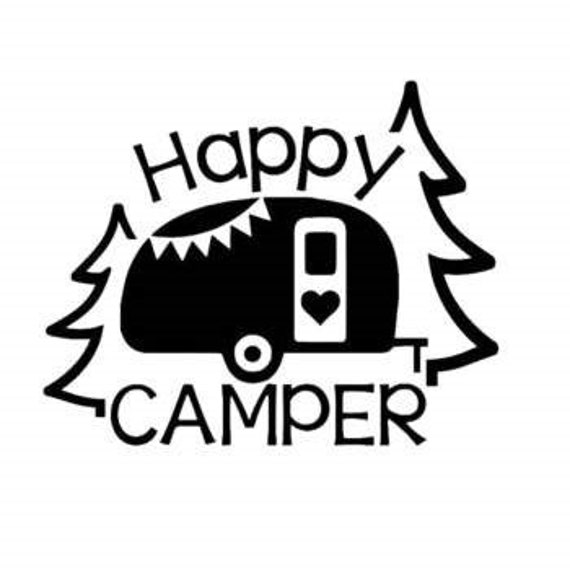 Happy Camer Camping Decal - Sticker For Your Car Truck phone Window rv travel trailer motorhome
