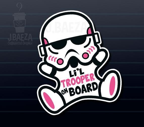 Lil Trooper on board colored SVG Files Download