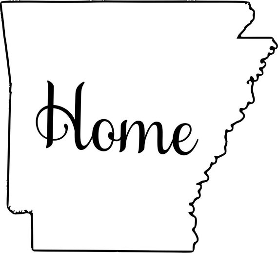 Arkansas with or without Home Map Decal Sticker for your car truck suv van wall phone window rv trailer state