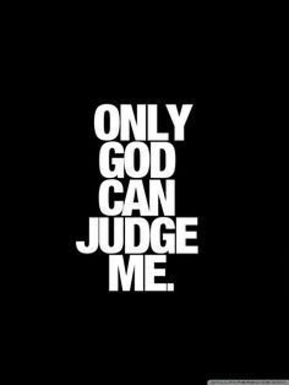 Only God Can Judge Me Decal Sticker for your car truck vehicle window