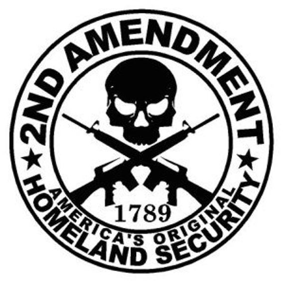 2nd Amendment Decal for your car truck wall phone fuck gun control