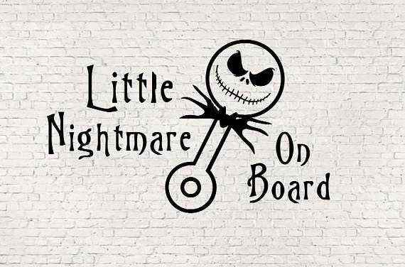 Little Nightmare On Board Baby on Board Decal - Sticker For Your Car Truck Window wall phone tablet kids