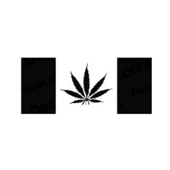 Canadian Weed Flag Go Green Pot Canada Decal Sticker for your car truck vehicle window marijuana