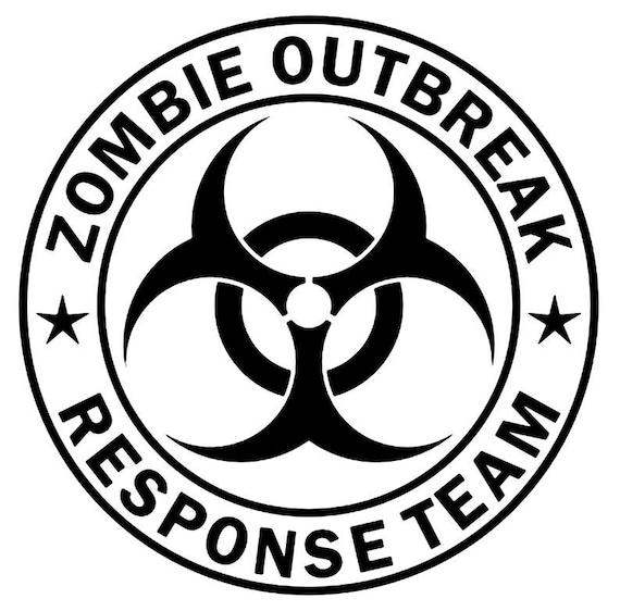 Zombie Outbreak Response Team vinyl decal sticker car truck suv van bumper  mirror  window  helmet  laptop  Yeti phone the walking dead
