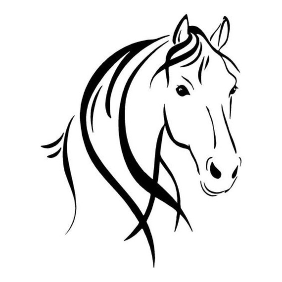 Horse Head Decal Sticker for your car truck wall phone