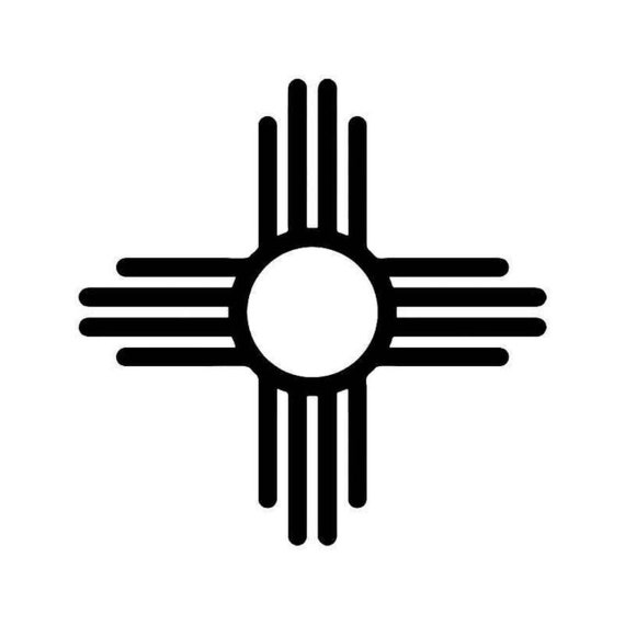 Zia Icon Any Color Any Size New Mexico State Zia Pueblo Sun Symbol Weatherproof Window Transfer Vinyl Decal