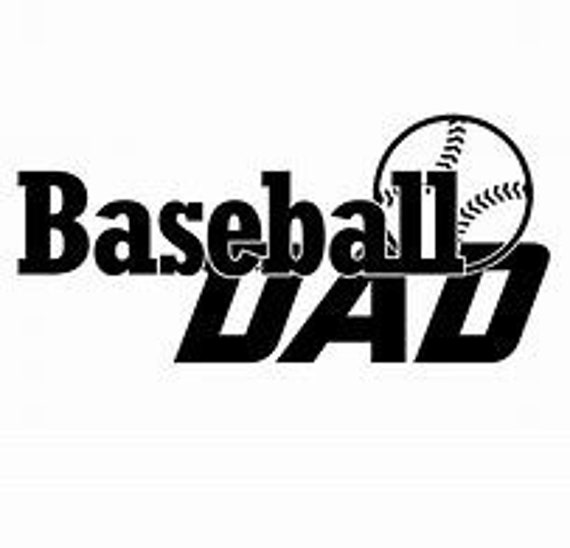 Baseball Dad Decal Sticker for your car truck suv phone tablet window bumper