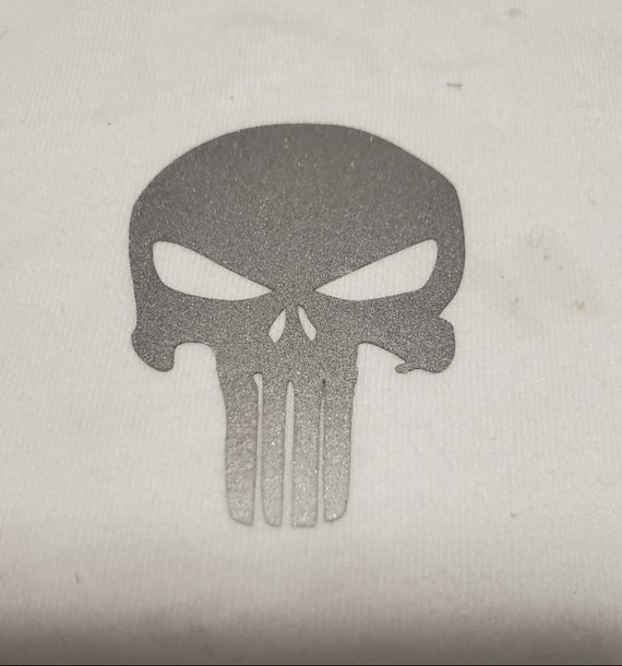 Reflective Punisher Heat Transfer for your shoes shirt pants iron on patch the